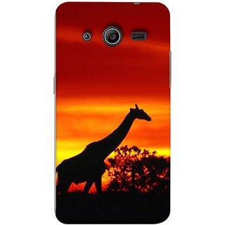 FUSON Designer Back Case Cover for Samsung Galaxy Core 2 G355H :: Samsung Galaxy Core Ii :: Samsung Galaxy Core 2 Dual (Africa Sunset Giraffe Evening Wildlife Animals )