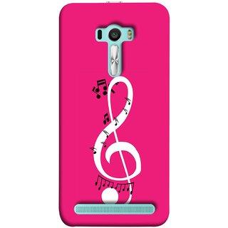 FUSON Designer Back Case Cover For Asus Zenfone Selfie ZD551KL (Colorful Music Notes Symbols Small Black Notes)