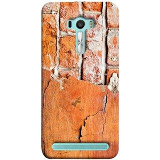 FUSON Designer Back Case Cover For Asus Zenfone Selfie ZD551KL (Peeling Plaster Bricks White Cement Broken Small Big)