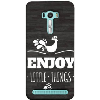 FUSON Designer Back Case Cover For Asus Zenfone Selfie ZD551KL (Nice Beautiful Peacock Design With Texts In White)