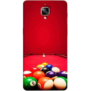 FUSON Designer Back Case Cover For Oneplus 3T (Billards Pool Game Color Balls In Triangle Aiming)