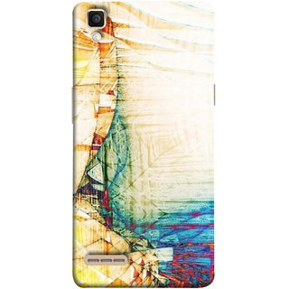 FUSON Designer Back Case Cover for Oppo F1 :: A35 (Architect Design Wood Pattern Curvilinear Plan Year)