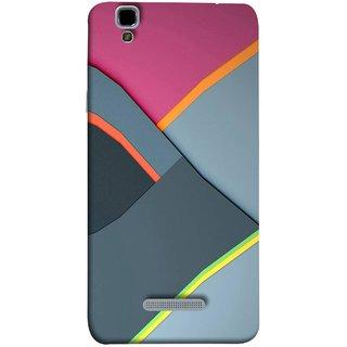 FUSON Designer Back Case Cover For YU Yureka :: YU Yureka AO5510 (Bright Beautiful Colour Strips And Band Wave Triangle)