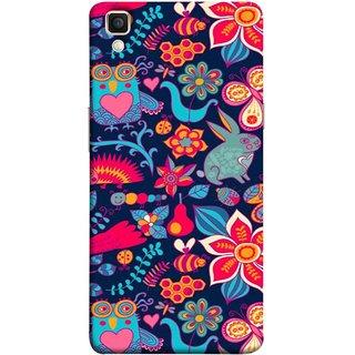 FUSON Designer Back Case Cover for Oppo F1 Plus :: Oppo R9 (Blue Background