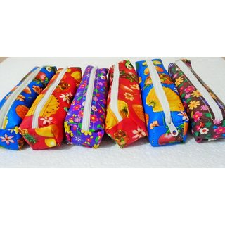 6 Pencil Bag Combo For Birthday Return Gift And Daily Use