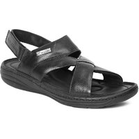 Red Chief Mens Black Slip On Sandals