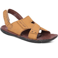 Red Chief Mens Brown Slip On Sandals