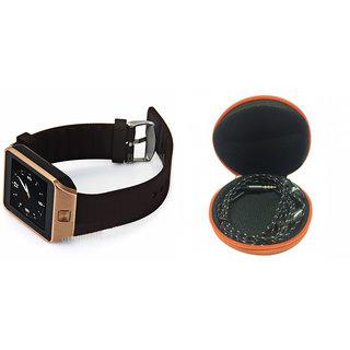 Clairbell DZ09 Smart Watch and Katori Earphone for ASUS ZENFONE C 7.0(DZ09 Smart Watch With 4G Sim Card, Memory Card| Katori Earphone)