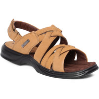 Red Chief Mens Brown Slip On Sandals - 123574990