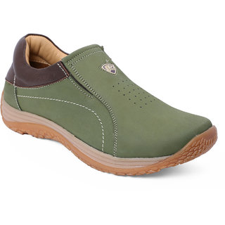 Red Chief Olive Men Outdoor Casual Leather Shoes (RC3427 124)