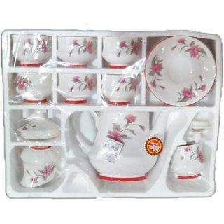 Bone China Cup And Saucer Set 6 Tea 6saucers 1kettle 1milk Pot 1 Sugar Total 15 Pcs Material