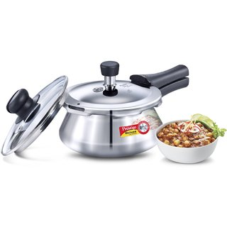 Prestige Stainless Steel Deluxe Pressure Handi 1.5 Litre. With Glass Lid-20614