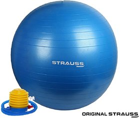 Strauss Anti Burst Gym Ball with Foot Pump, 85 Cm