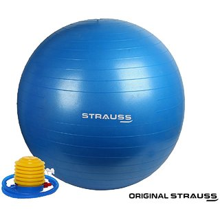 Strauss Anti Burst Gym Ball with Foot Pump 85 Cm