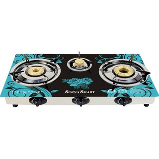 SURY SMART AUTOMATIC 3 BURNER GAS STOVE COOKTOP