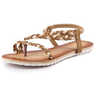 PAN Women's Brown Sandals