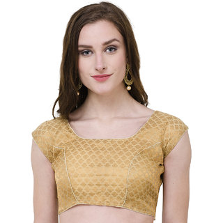 Naira Couture Brocade Golden Neemzari Work Brocade Readymade Designer Blouse