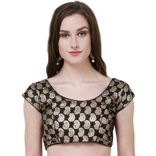 Naira Couture Brocade Princess Cut Paisley Readymade Designer Blouse