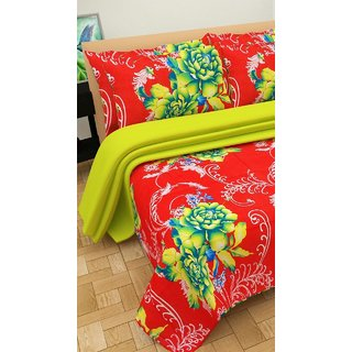 Angel homes polycotton double bedsheet with 2 pillow cover (S01)