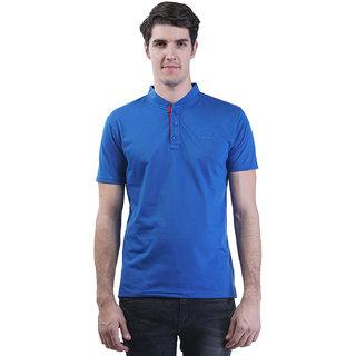 Griffel Men'S Blue Mandarin/Chinese T-Shirt