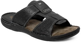 Red Chief Black Men Casual Leather Slipper (RC1361A 001