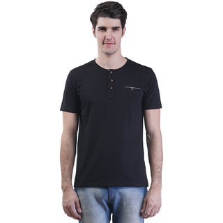 Griffel Men'S Black Round Neck T-Shirt