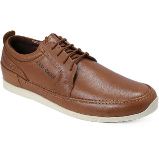 Red Chief Tan Men Casual Leather Shoes (RC21001 006)