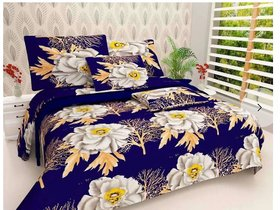 Angel homes 3d double polycotton bedsheet with 2 pillow cover (H01)