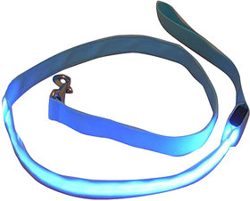 Futaba Nylon Led Leash Dog Safety Glow Rope - 120Cm - Blue