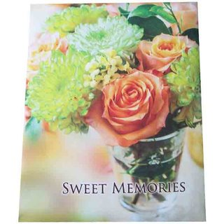 Sweet Moments New Floral Design Multi Color Photo Album Size 5 inch,7 inch, 72 Photo Pockets (mc2100)