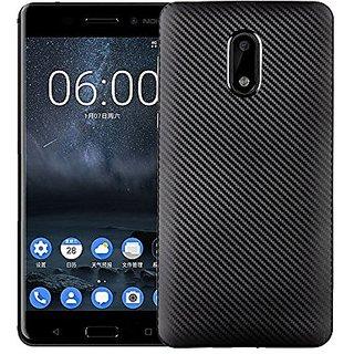 Nokia 3 Carbon Fiber Soft  Back Cover (Black)