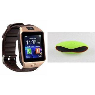 Clairbell DZ09 Smartwatch and Rugby Bluetooth Speaker  for PANASONIC ELUGA TURBO(DZ09 Smart Watch With 4G Sim Card, Memory Card| Rugby Bluetooth Speaker)