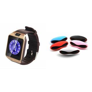 Clairbell DZ09 Smartwatch and Rugby Bluetooth Speaker  for MOTOROLA ex109(DZ09 Smart Watch With 4G Sim Card, Memory Card| Rugby Bluetooth Speaker)