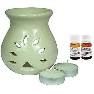 Brahmz Aroma Oil Diffuser - Ceramic - Regular - White - Rose / Vanilla