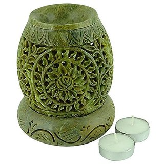 Brahmz Marble Tea Light Aroma Diffuser Burner Essential Oil Warmer / Aromatherapy - M-C17