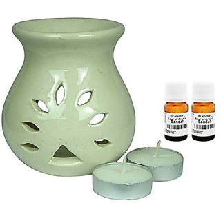Brahmz Aroma Oil Diffuser - Ceramic - Regular - White - Sandal / Sandal