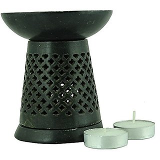 Brahmz Marble Tea Light Aroma Diffuser Burner Essential Oil Warmer / Aromatherapy - M-56