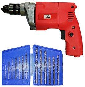 Agni Metal Series 10mm Drill with 13 Pc Drill Bit Set