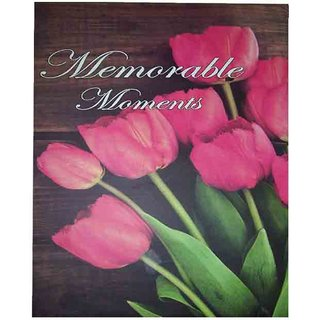 Lovely Pink Rose Design New Color Fancy Photo Album Size 5 inch-7 inch-100 Photo Pockets (mc2110)