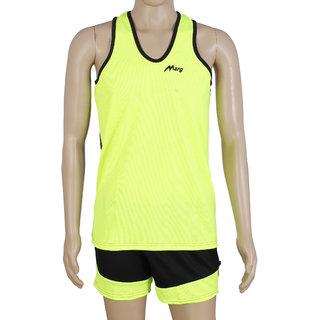 RetailWorld Atheletic Wear Kit Yellow/Black (Sando + Shorts)