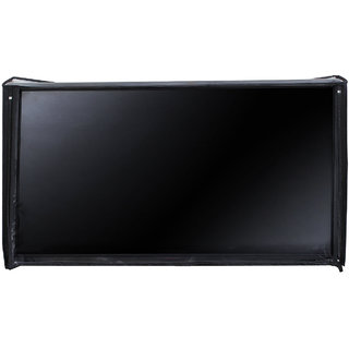 Glassiano LED/LCD PVC Cover For Sanyo (49 inches) XT-49S7100F Full HD LED IPS TV (Black)