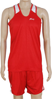 RetailWorld Atheletic Wear Kit Red/White (Sando + Shorts)