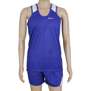 RetailWorld Atheletic Wear Kit Blue/White (Sando + Shorts)