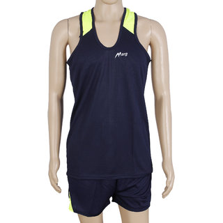 RetailWorld Atheletic Wear Kit Navy Blue (Sando + Shorts)