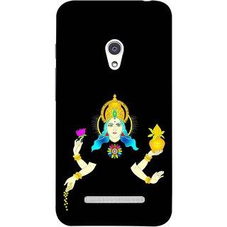 FUSON Designer Back Case Cover For Asus Zenfone 5 A501CG (Laxmi Kamal Lotus Gold Crown Mukut Kalash)