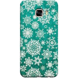 FUSON Designer Back Case Cover for Samsung Galaxy C5 SM-C5000 (Different Size Winter Snow Enjoying Ornaments Green)