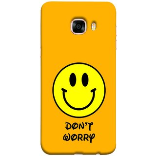 FUSON Designer Back Case Cover for Samsung Galaxy C5 SM-C5000 (Big Smiling Baby Smiley Be Happy Never Worry)