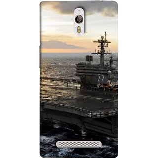 FUSON Designer Back Case Cover for Oppo Find 7 :: Oppo Find 7 QHD :: Oppo Find 7a :: Oppo Find 7 FullHD :: Oppo Find 7 FHD (Indian Submarine Shoots Ship With Missile Training )