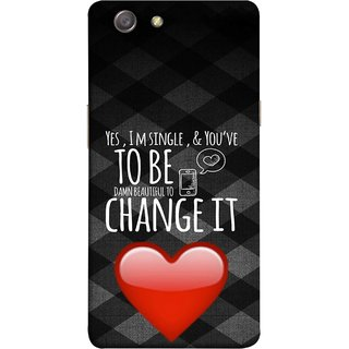 FUSON Designer Back Case Cover for Oppo Neo 5 :: Oppo A31 :: Oppo Neo 5S 2015 (Damn Beautiful To Change It Hearts Love Pure )