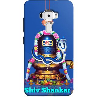 FUSON Designer Back Case Cover For Asus Zenfone 3 ZE520KL (5.2 Inches) (Shri Ganesh Shivling Om Lotus Nag Abhishek)
